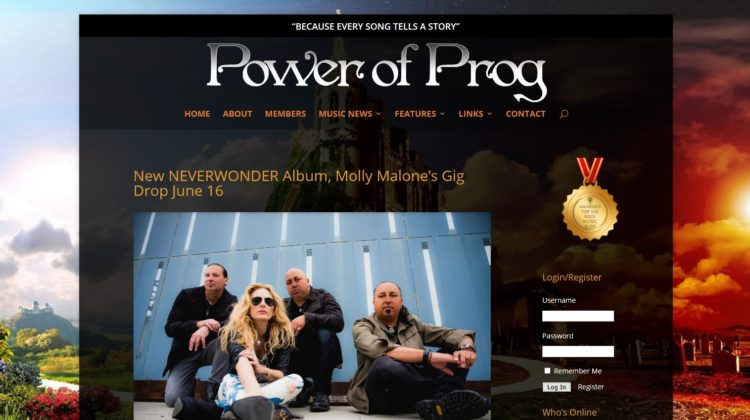 Power of Prog - New NEVERWONDER Album, Molly Malone's Gig Drop June 16