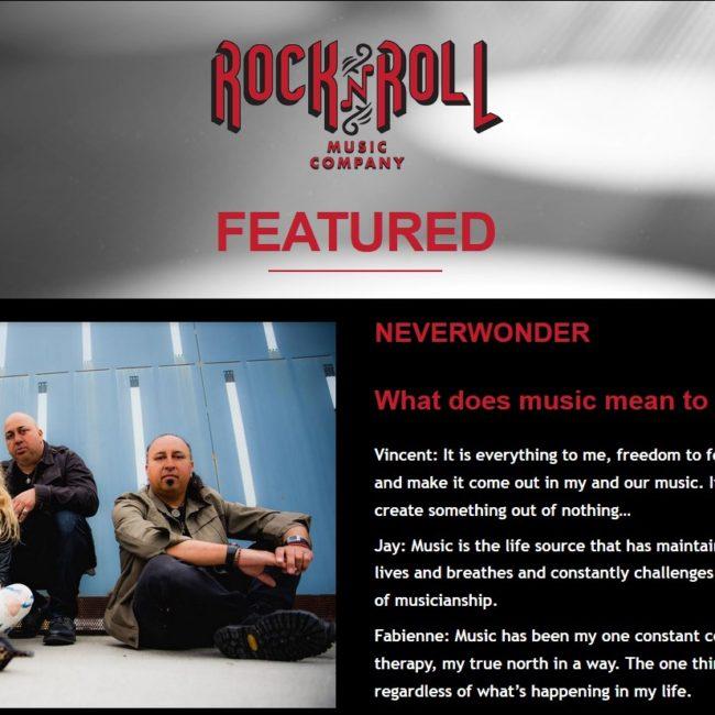 Rock N Roll Music Co. - FEATURE - NEVERWONDER - 29 AUG 2018rocknroll-music-co
