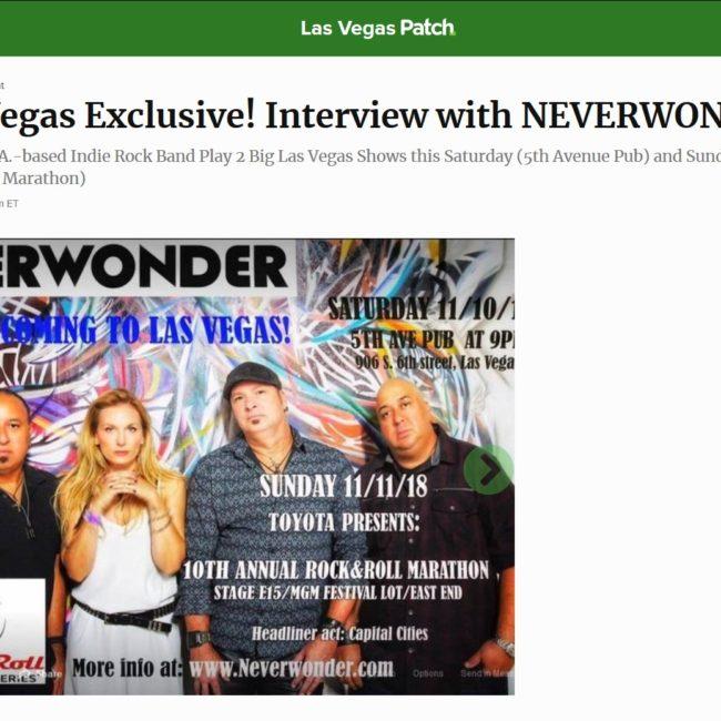Las Vegas Patch - Exclusive! Interview with Neverwonder - 09 NOV 2018
