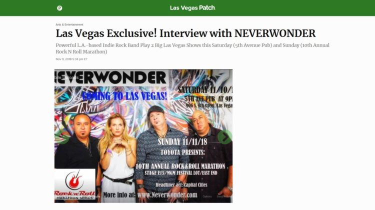 Las Vegas Patch - Exclusive! Interview with Neverwonder - 09 NOV 2018