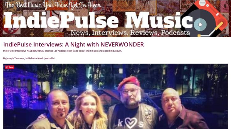 IndiePulse Interviews: A Night with NEVERWONDER - 03 FEB 2019