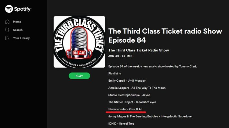 Third Class Ticket Radio Show-Neverwonder-30 JUN 2019