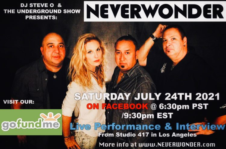 Neverwonder on the Underground Live Show with DJ Steve O - 21 JUL 2021